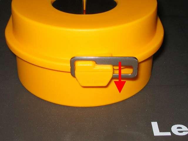 オルファ 安全刃折器ポキ L型 ロック解除