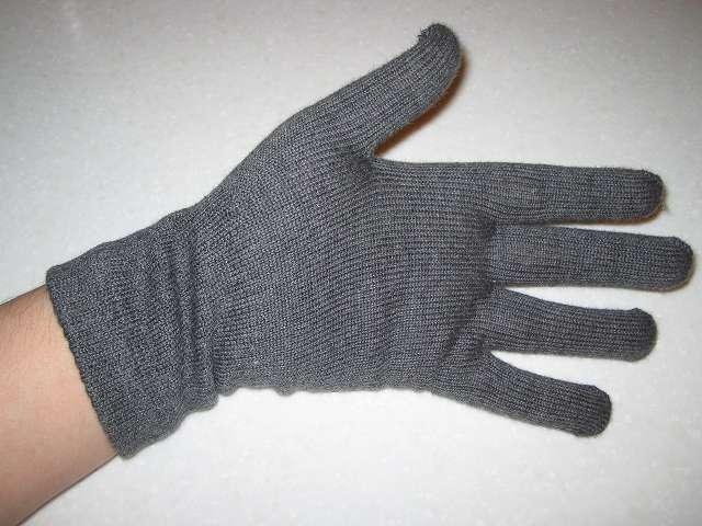 寒さ対策用に購入した冷えとり靴下の 841(ヤヨイ)フィット手袋(サイズ L)(色 グレーミックス) 手のひら側