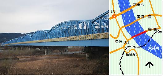 大井川橋マップ