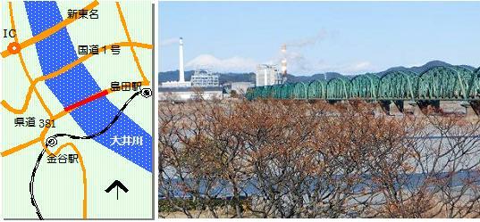 大井川橋梁マップ