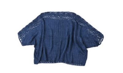毛糸ピエロ絹100%中細チュニックかぎ針編み