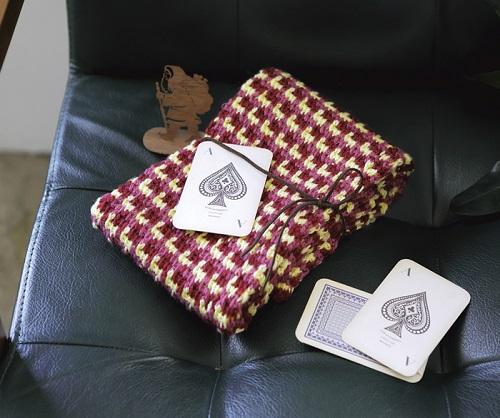 1217zakkaフレンズアフガン編みのミニマフラー