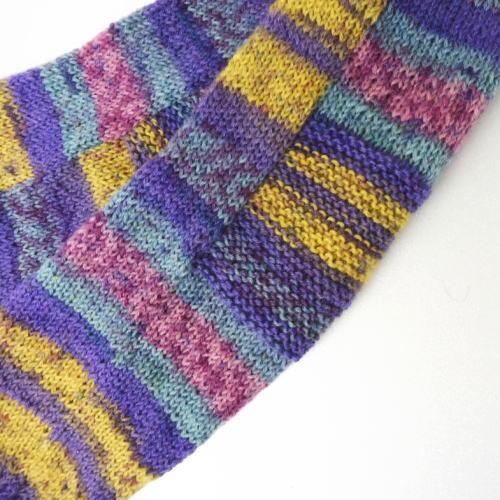 1218リアリストまっすぐ編みの簡単靴下かかと部分