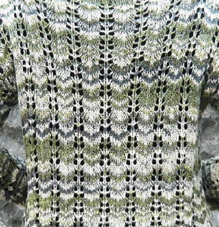 1292ナイフメーラ山路編みセーター後ろアップ