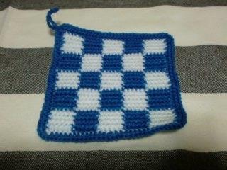 68かぎ針編み編み込みエコタワシ中細毛糸