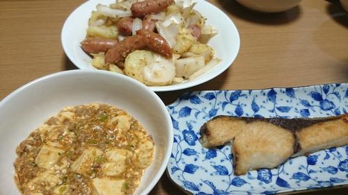 ぶりの塩焼き・麻婆豆腐