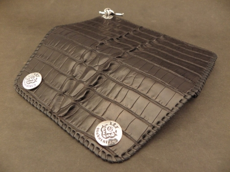Silver,Leather,BikerWallet,Crocodile,Gaboratory,Gabor