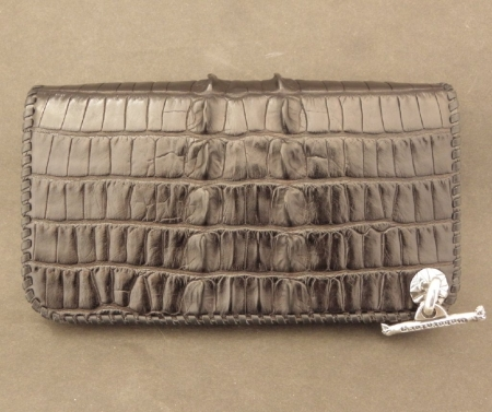Silver,Leather,BikerWallet,Crocodile,Gaboratory,Gabor