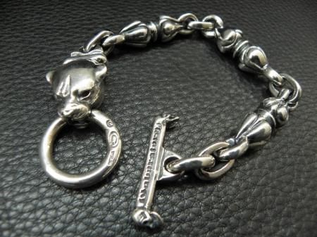 Silver,Bracelet,Noodle,Panther,Gaboratory,Gabor