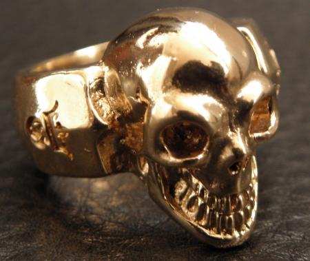 SingleSkull,1Gold,Ring,,Silver,Gaboratory