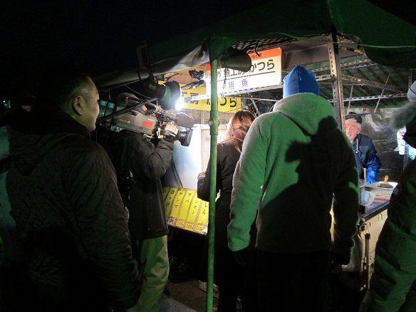 館鼻朝市2015年12月 RAB TV取材