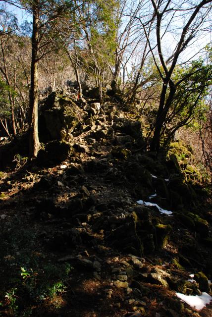遠足尾根_少し険しい岩場