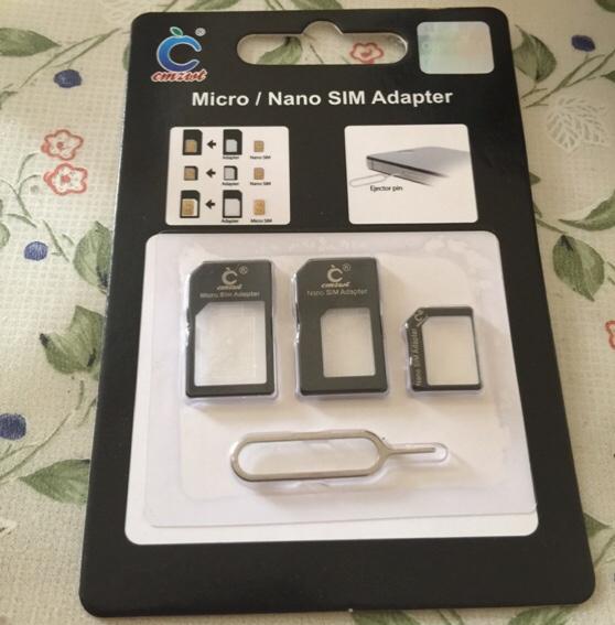 昨日の0円SIMのためSIMカードアダプタを買った!