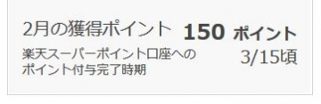 楽天リサーチ ポイント履歴 201602