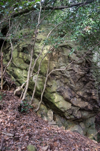 澄水山の巨石