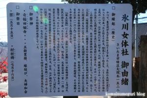 附島氷川女体神社(さいたま市緑区大間木)10