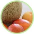 フルーツ メロン、マンゴー、桃