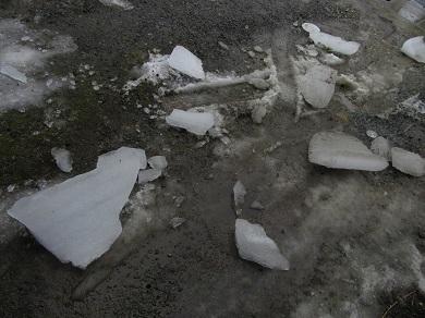 落下した雪