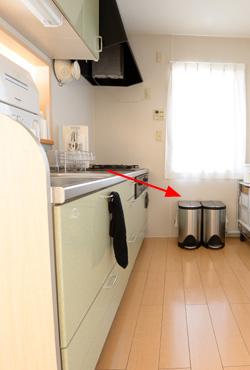 キッチン ゴミ箱 位置