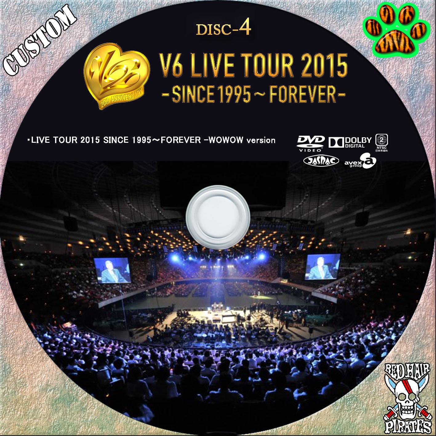 赤髪船長のCUSTOMラベル V6 LIVE TOUR 2015 -SINCE 1995~FOREVER-