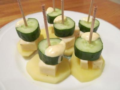 チーズと胡瓜のピンチョス2