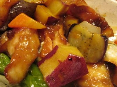 ホウボウとゴロゴロ野菜の甘酢あんかけアップ4