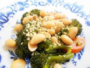 大豆とブロッコリーのサラダ