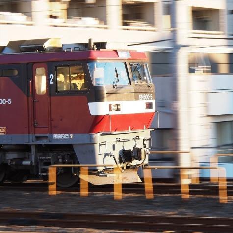 EH500-5 牽引の高速貨物B 2092レ【金町駅】