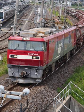 EH500-77牽引の安中貨物