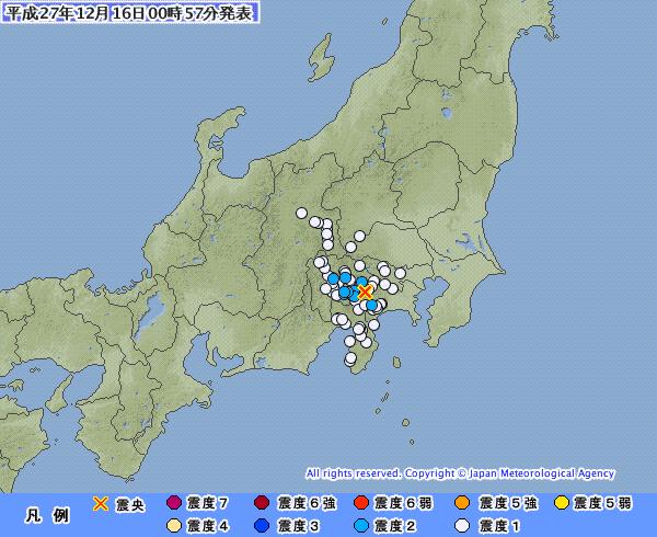 【富士山】「山梨県東部・富士五湖」震源で震度2の地震が2回発生
