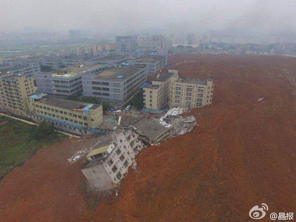 中国・広東省の深センで「大規模な地滑り」が発生…工業団地が飲み込まれる