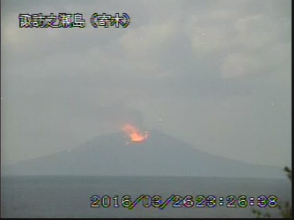 【トカラ列島】鹿児島県・諏訪之瀬島が噴火