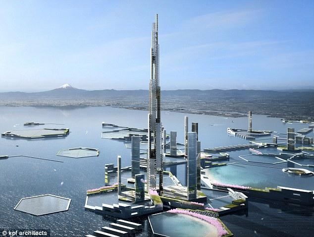 【ネクスト東京計画】約1700メートル級の超高層タワーを東京に建設?ドバイ、ブルジュ・ハリファの2倍の高さ