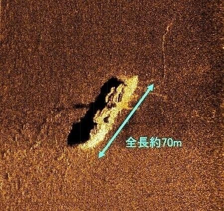 福井県の沖合30キロの海底に海上保安庁の記録にも残っていない「謎の沈没船」があることが判明…水深約240メートル