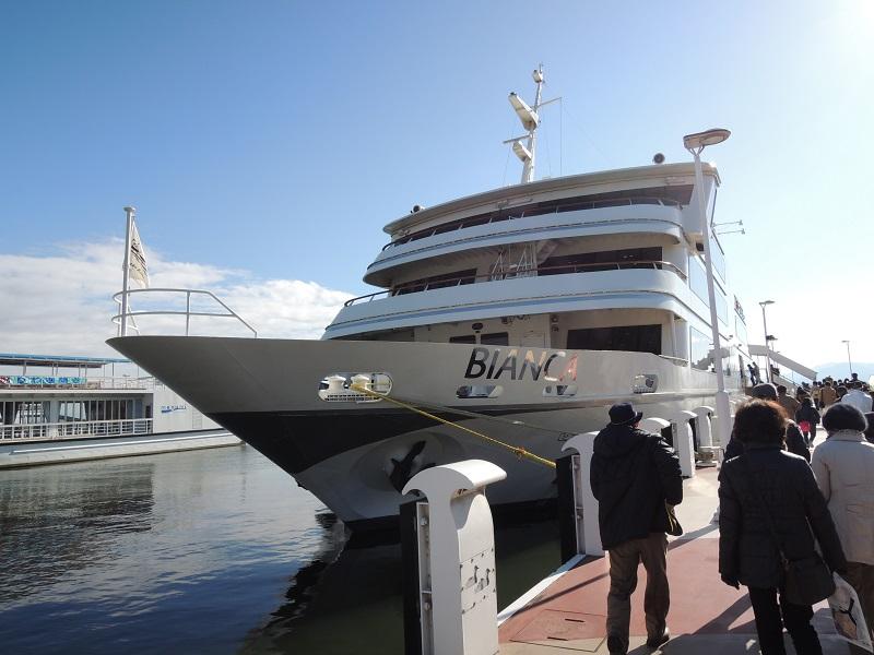 ビアンカに乗船します
