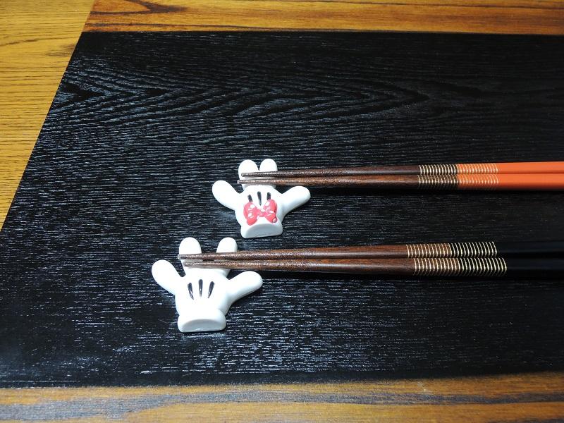 ミッキーとミニーのお箸置き