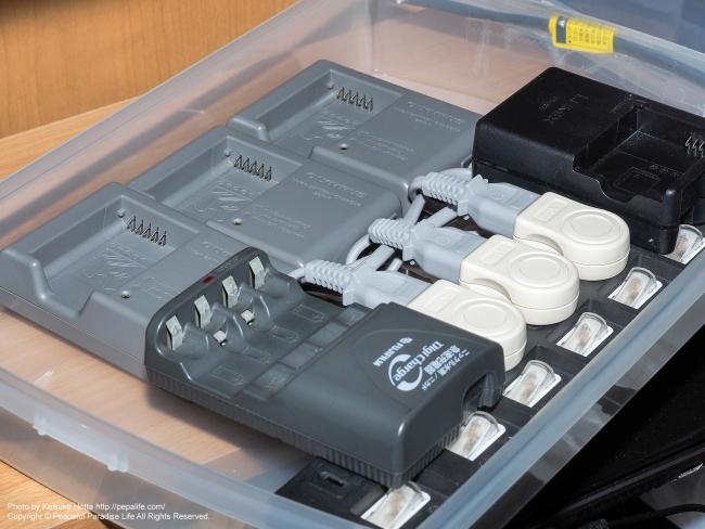自作の充電器ボックス