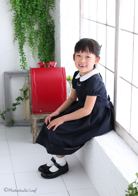 入学写真 女の子