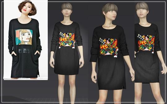 marvelousdesignerでシムズの服を作ってみた