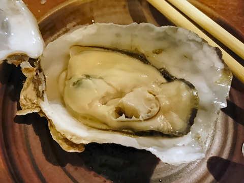 蒸し牡蠣(剥き身)@牡蠣小屋むんちゃん