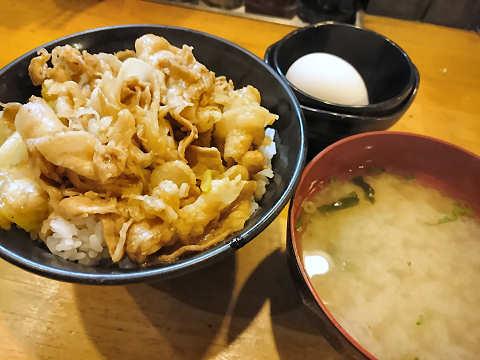 ミニすた丼(セット)@すた丼屋