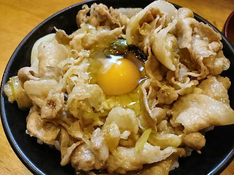 ミニすた丼+卵@すた丼屋