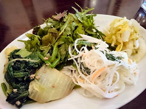 ランチセットの野菜たち@中国小菜 双琉