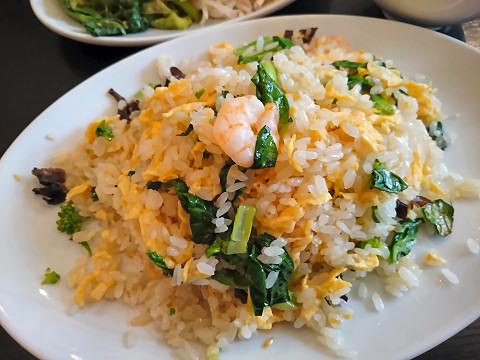 小海老と青菜の炒飯@中国小菜 双琉