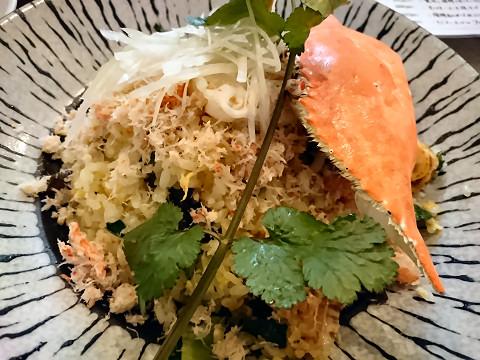 蟹肉と海鮮のぜいたく炒飯@中国小菜 双琉