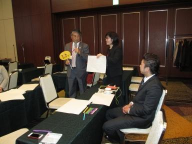 板谷会長もわくわくを発表