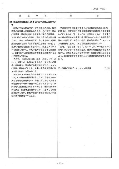 <民主党・無所属クラブ>当初予算・政策要望に対する知事回答!24