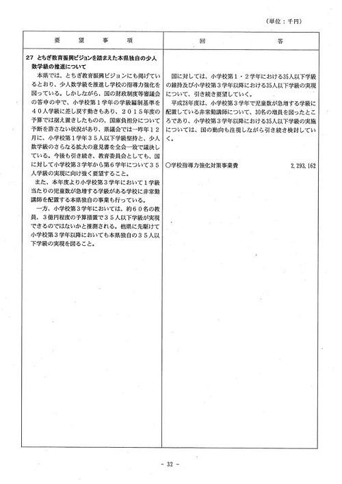 <民主党・無所属クラブ>当初予算・政策要望に対する知事回答!33