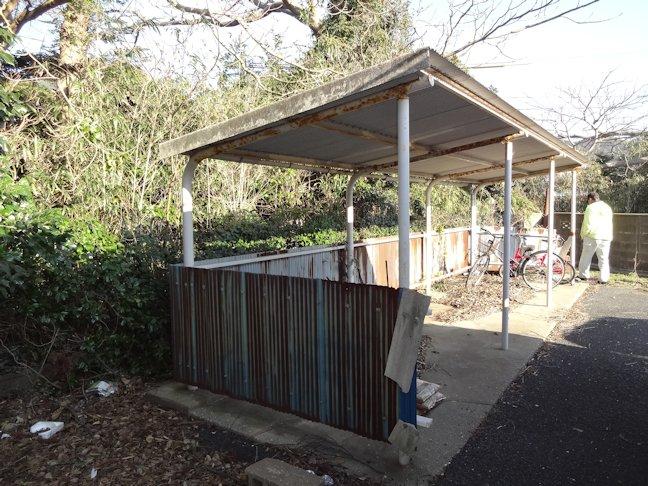 駐輪場屋根・壁補修