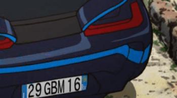 ニクスの車のナンバー